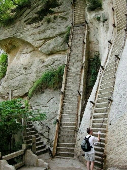 Even taking the stairs to heaven is harder than it sounds.
