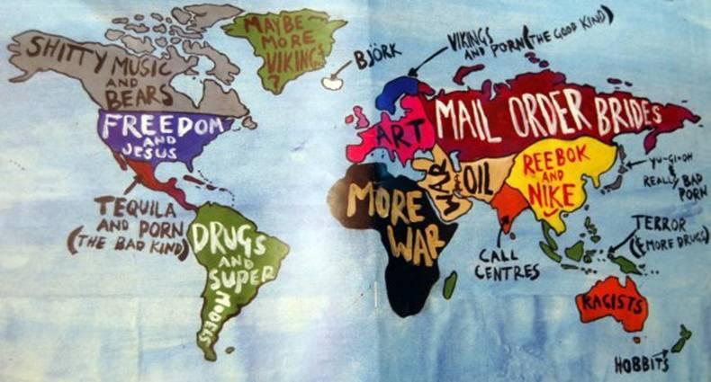 Not So Politically Correct World Map