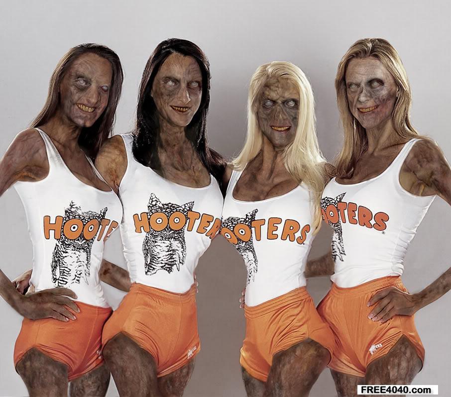 Zombie Hooters Girls