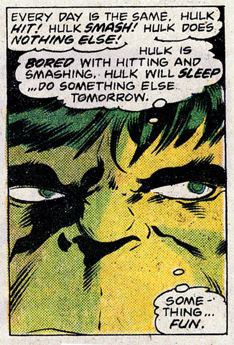 Hulk Want To Do Something Fun Tomorrow