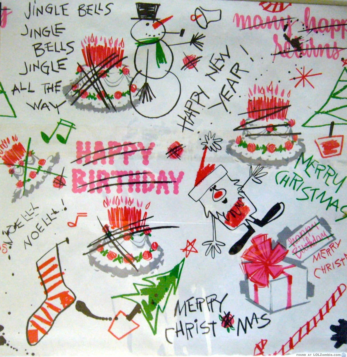 How To Reuse Birthday Wrapping Paper At Christmas
